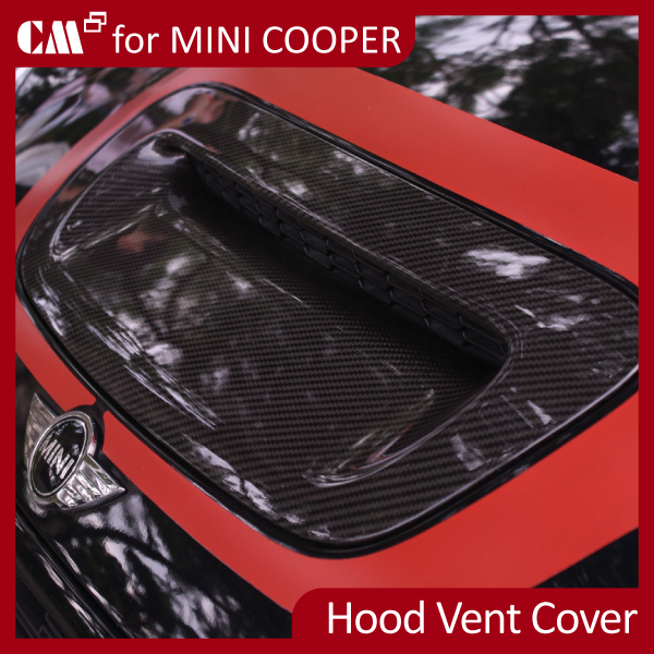 for Mini Cooper R56 (07~ON) Real Dry Black Carbon Fiber Hood Vent Cover